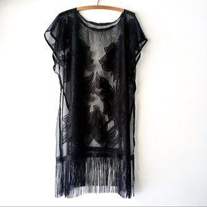 Black Lace Swim Cover
